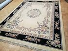 9x12 INDO CHINESE TAJ AUBUSSON AUTHENTIC 100% WOOL ORIENTAL RUG HAND WOVEN