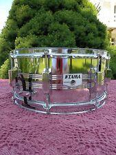 "Vintage 1980s Tama Rockstar DX Chrome Over Steel 6.5"" x 14"" Snare Drum"