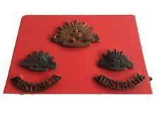 WW 11 Australian Army Rising Sun Badge Collars Australias ORIGINAL Luke