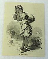 1883 magazine engraving ~ WATER-CARRIER Guatemala