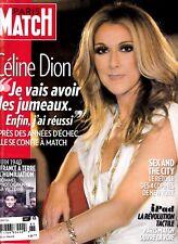 "Celine Dion ""Rare"" Paris Match Magazine June 2010 With Rene 6 Pages"