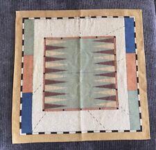 Vintage J. Pansu Paris Backgammon Tapestry Fabric Excellent Condition