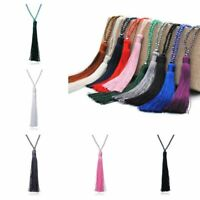 Beaded Long Jewelry Silk Pendant Tassel Sweater Crystal Fashion Chain Necklace