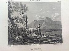 LA FILANDA  K. Dujardin - Galerie du musée Napoléon Joseph Lavallée 1804-1815