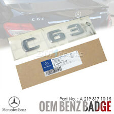 GENUINE OEM MERCEDES BENZ C63 CHROME REAR TRUNK BOOT EMBLEM BADGE AMG GERMANY