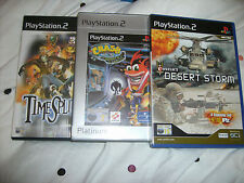 PLAYSTATION 2 GAMES CRASH  CORTEX TIME SPLITTERS DESERT STORM