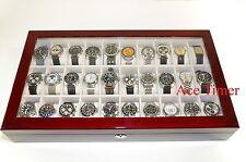 30 Watch (Premium Series) 1 Level Rosewood Display Storage Case Box + Gift