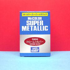 Mr. Hobby #SM06 Mr. Color Super Metallic Paint - Chrome Silver