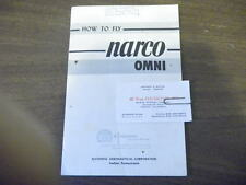 Vintage How to Fly Narco Omni Equipment  Booklet Guide 1956 airplane autobus