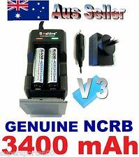 2 BLAZAR NCR 18650 B 3400mAh + Soshine AU SCS2 Lithium ion battery charger COMBO