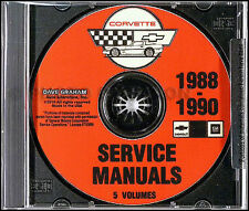 1988 1989 1990 Chevrolet Corvette Service Manual CD Repair Shop 88 and 90 Wiring