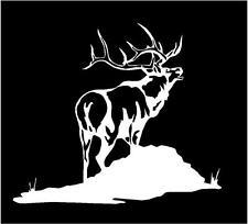 WHITE Vinyl Decal - Elk bugle mountain hunt hunting antlers fun sticker