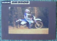 SUZUKI DR 350 S MOTORCYCLE Sales Sheet 1990's