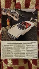 1971 Standard Triumph Stag Series 1 Vintage Ad Gallery Postcard Mint Unused