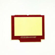 Red Screen Lens Protector Replacement For Nintendo GameBoy Advance SP GBA SP