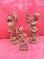 3 Hermosa, vieja, Pequeño Figuras de Madera ___