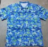 Columbia PFG Vented Graphic Print Short Sleeve Button Up Shirt Men's Size Large