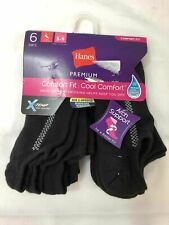 Comfort Fit Hanes Arch Support /Wicking Helps Keep you Dry Size 5-9 6Pairs
