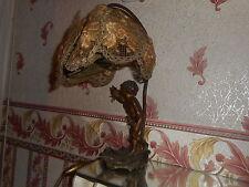 LAMPE ANCIENNE DE CHEVET ENFANT A L'OISEAU REGULE SIGNE AUGUSTE MOREAU