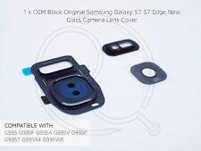 Negro Oem Samsung Galaxy S7 S7 Cristal de Borde Cubierta de Lente de cámara marco de reemplazo