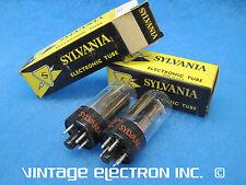 Lot Of (2) Nos 12Ax4Gtb (12Ax4) Vacuum Tubes - Sylvania - Usa - 1960's (Tested)