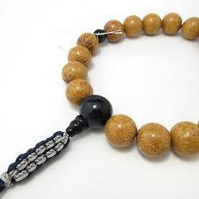Indian Bodhi tree Wood & Blue Tiger Eye Japanese Juzu Buddhist Prayer beads