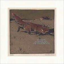 Casaques ART NOUVEAU Ludwig Hohlwein chasse Munich Renard embuscade chasseur jeunesse 1141