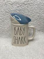 New Rae Dunn BABY SHARK Mug With Shark Head Topper