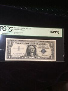 $1 1957 Star Note Fr.1619 Silver CertIficate PCGS 66 GEM NEW PPQ For Auction!