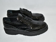 Prada Platform Oxford Black Patent Leather Shoe Size 38 / 8 US