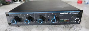 Shure scm410e portable intellimix mixer 4 channel microphone
