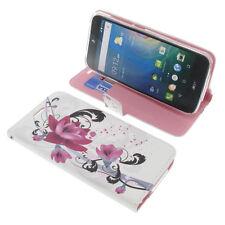 Custodia Per Acer Liquid Z630 Book-Style Protettiva Cellulare Libro Lotus Fiore