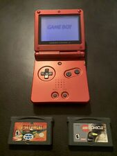 Nintendo GameBoy Advance SP Flame Red With 2 Games