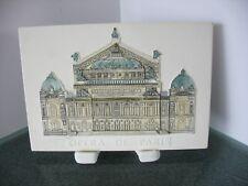 Opera de Paris Souvenir TileJ. Carlton Hand Painted Raised Relief w/stand 6x4