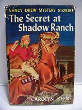 NANCY DREW 1931 The Secret at Shadow Ranch HC w/JACKET, Carolyn Keene