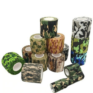 4.5m Hunt Disguise Elastoplast Camouflage Elastic Wrap Tape Outdoor Sports Army