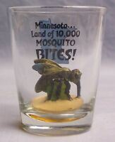 Minnesota..Land of 10,000 Mosquito Bites Collectable Shot Glass (EAF)