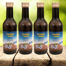 4 x 250 ml Lausitzer Leinöl Speiseleinöl kaltgepresst frisch Speiseöl