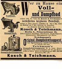 Kosch&Teichmann Berlin Fabrik beheizbarer Apparate Historische Reklame von 1895
