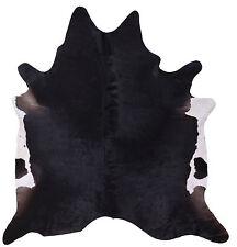 Genuine Cowhide Rug in Dark Brown Patch- 7ft x 6ft (220cm x 185cm)