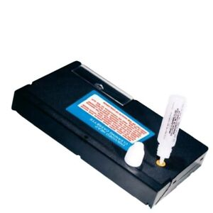 VHS VCR Player Head Cleaner Kit Video Cassette Tape with Cleaning with Fluid +