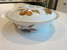 ROYAL WORCESTER EVESHAM GOLD ENTREE DISH WITH LID ROUND