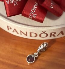 Pandora Passionately Purple Amethyst Dangle Charm 790435 Retired Authentic Ale