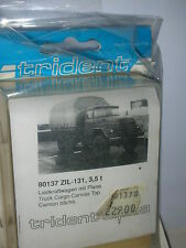 Trident 80137 KIT ZIL 131 3.5Ton  Truck Cargo Canvas Top Whitemetal  1:87  NEW