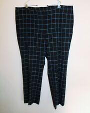 Lane Bryant Women's Blue & Black Plaid Pants Size 28