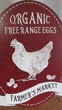 Organic EGGS Farmers Market Sign ~ FARMHOUSE ~ Vintage Inspired Free Range Oval