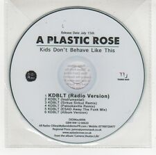 (GG642) A Plastic Rose, Kids Don't Behave Like This - DJ CD