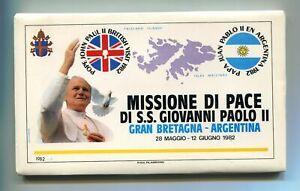 S11418) Vatican 1982 FDC Filagano Pope John Paul II - UK Arg. (12+ Envelopes)