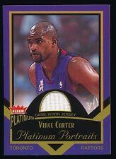 VINCE CARTER 2002-03 FLEER PLATINUM PORTRAITS JERSEY #PPVC *TORONTO RAPTORS*