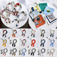 Women Elegant Square Silk Feel Satin Scarf Lady Vintage Head-Neck Hair Tie Band!